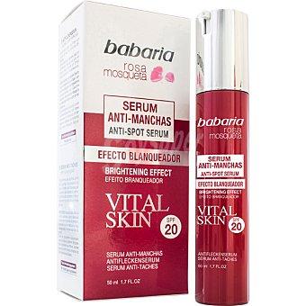 Babaria Serum anti-manchas efecto blaqueador FP-20 Rosa Mosqueta Vital Skin  dosificador 50 ml