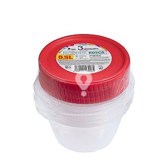 Recipiente plastico multiusos redondo 0,5 l (rosca)