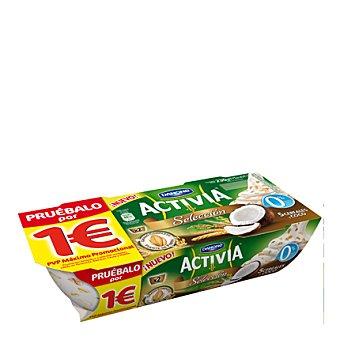 Danone - Activia Yogur fibras selección 0% grasa con 5 cereales y coco Danone pack 2x115 g