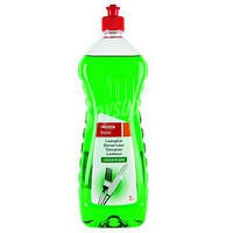 Eroski Lavavajillas a mano concentrado verde Botella 1 litro