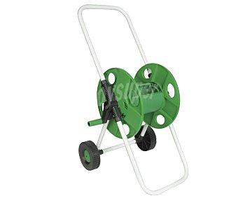 Tresdogar Carro portamangeras de pvc, con estructura de aluminio, ruedas y mango ajustable en altura hasta 60 centímetros 1 unidad