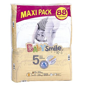 Baby Smile Pañales 13-20 kgs talla 5 paquete 88 uds 13-20 kgs