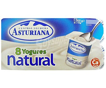Central Lechera Asturiana Yogur natural Pack 8x125 g
