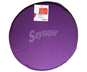 AUCHAN Cojín redondo para taburete, color morado liso, modelo Panamá, 30x30 centímetros 1 Unidad