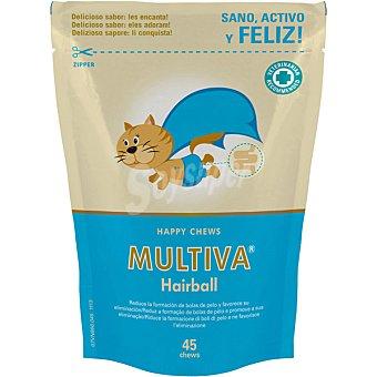 MULTIVA Hairball suplemento dermatológico para gatos envase 45 unidades