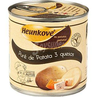Indokove Puré de patata 3 quesos  bote 400 g