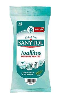 SANYTOL limpiador en toallitas desinfectantes paquete 24 unidades