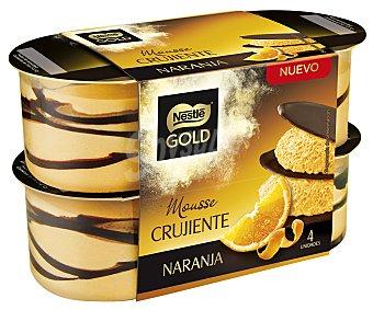 Nestlé Gold Mousse de naranja crujiente Pack de 4 unidades de 57 g