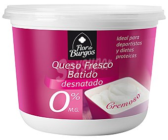 FLOR DE BURGOS Queso fresco batido 0% Materia Grasa 450 Gramos