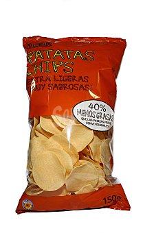 Hacendado Patatas fritas chips (deshidratada) Paquete 150 g