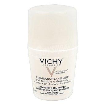 Vichy Desodorante anti-transpirante 48 horas ,piel sensible o depilada ,sin perfume, sin alcohol y sin parabenos 50 Mililitros