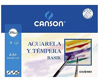 Canson Bloc de dibujo con 6 hojas de y de 24x33 cm, canson 130 gramos