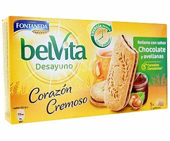 Belvita Fontaneda Galletas con relleno con sabor chocolate y avellanas  Estuche 253 g