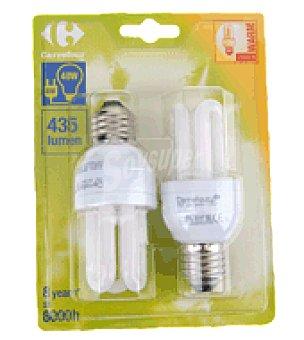 Carrefour 2 bombillas 8W E27 calida
