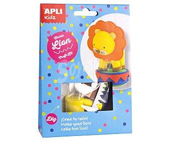 APLI Kit para construir un muñeco con forma de león de circo a base de materiales para realizar manualidades APLI
