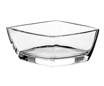 Auchan Mini recipiente cuadrado de 6,5 centímetros fabricado en vidrio transparente modelo Tokio 1 unidad