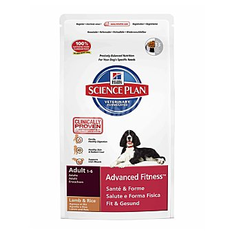 HILL'S SCIENCE PLAN ADULT Advanced Fitness en plena forma alimento especial con cordero y arroz para perro bolsa 3 kg Bolsa 3 kg