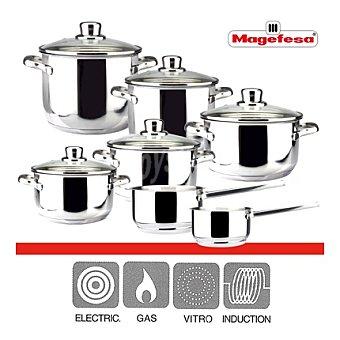 Bateria de cocina acero inoxidable 12 piezas Mod. Dux 1 ud