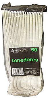 Bosque Verde Tenedor desechable plastico 50 u