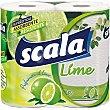 rollos de cocina perfume limón 2 capas paquete 2 unidades Scala