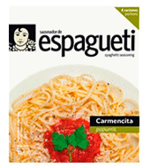 Carmencita Sazonador para espaguetti popurri 10 g
