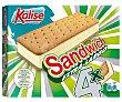 Sandwich con galletas extra-largas, rellenas de helado de vainilla Extra largo 4 x 65 g Kalise