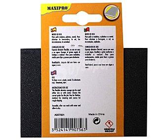 MAXIPRO Taco de lija flexible para madera, plástico y metal, grano fino y medio 1 Unidad