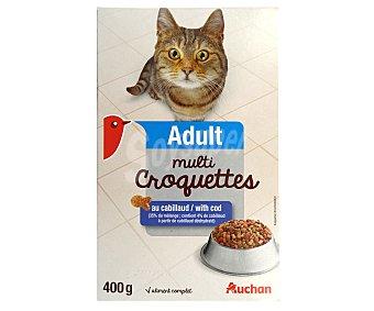 Auchan Comida seca para gato multicroc de salmón 400 gr