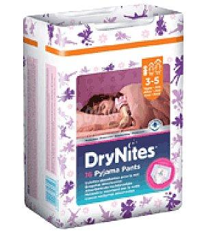 Dry Nites Braguitas de noche absorbentes para niñas 3-5 años, 16-23 kg  Paquete 16 unidades