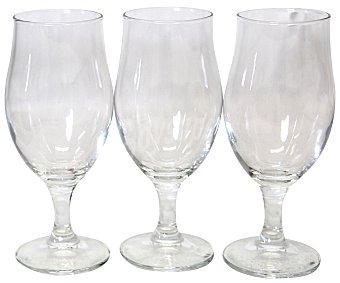 Bormioli Pack de 3 copas de cerveza modelo Executive, con capacidad de 30 centilitros y fabricadas en vidrio transparente 1 Unidad