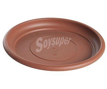 VAN Plato circular de plástico de color terracota y medida de 30 centímetros 1 unidad