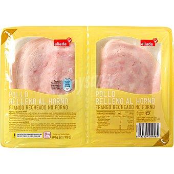 ALIADA pollo relleno al horno en lonchas  pack 2 envases 100 g