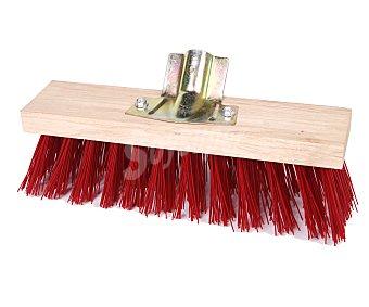 Productos Económicos Alcampo Cepillo con cuerpo de madera, cerda sintética y soporte para el palo metálico (palo no incluido) 1 unidad