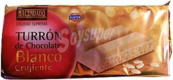 Hacendado Turron chocolate blanco crujiente Pastilla 300 g