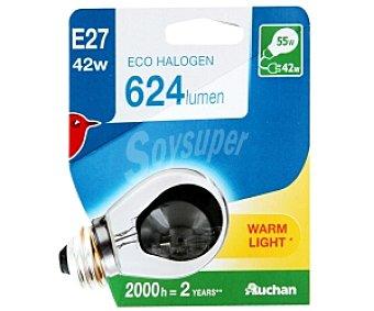 Auchan Bombilla EcoHalógena Esférica E27 42W 1 Unidad