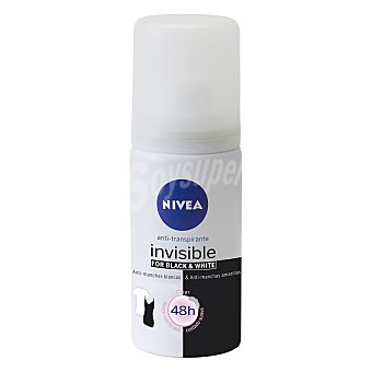 Nivea Desodorante Black & White Clear Invisible anti-manchas tamaño viaje spray 35 ml Spray 35 ml