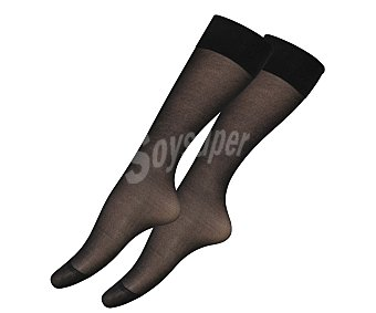 IN EXTENSO Pack de 2 pares de minimedias 15 den de lycra, color negro, talla única Pack de 2