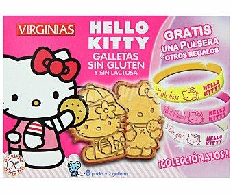 Virginias Galletas Hello Kitty sin gluten y sin lactosa Caja 158 g
