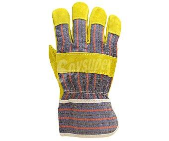 Productos Económicos Alcampo Par de guantes de jardín tipo docker, con serraje reforzado en la palma, talla 10 1 unidad