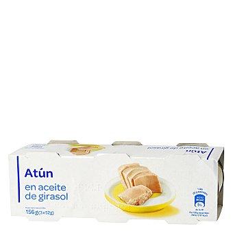 Carrefour Atún listado en aceite vegetal Pack 3x52 g
