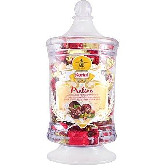 SORINI Praline bombones rellenos de crema de avellanas vaso 400 g