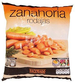 Hacendado Zanahoria corte rodaja congelada Paquete de 750 g