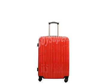 Trolley rígido 50cm de 4 ruedas abs, rígida, color rojo brillante 1 unidad