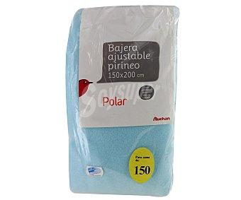 Auchan Sábana bajera serie Pirineo, 130 gramos/m², color azul, 150 centímetros 1 Unidad