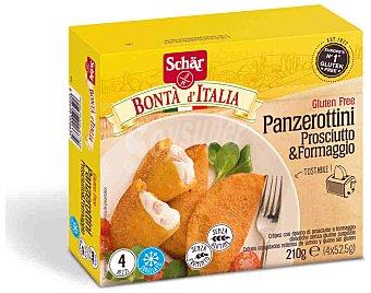 SCHAR Panzerottini crepes de jamón y queso sin gluten envase 210 g