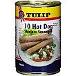 Salchichas hot dogs lata 250 g neto escurrido Tulip
