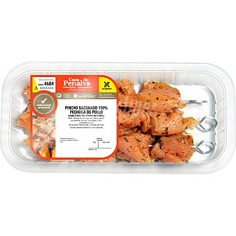 CASA DE PENALVA Pinchos sazonados de pechuga de pollo peso aproximado Bandeja 400 g