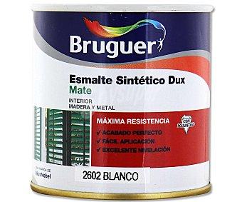 BRUGUER Esmalte sintético de color blanco y acabado mate, de la serie Dux 0,25 litros