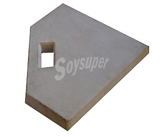 Anjosa Base semi-cuadrada de cemento para sombrillas de 46.5x46.5x4.5 centímetros y peso: 1 unidad