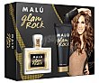 Lote mujer glam rock eau toilette vaporizador 100 ml + doby locion 75 ml  1 lote  Malú